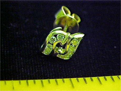 a1c53807e4d0 SpeediTrade - 14K yellow gold .40TCW diamond tie tack pin vintage ...